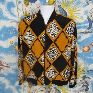 Crazy 90s Silky Bomber Windbreaker Jacket - sz XL